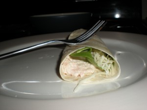 Tuna Spinach Swiss Wrap
